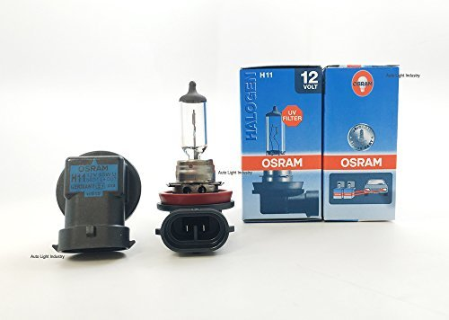 Osram H11 OEM Halogen Headlight bulbs - 12V 55W 64211L (Long Life) Made in Germany | Pack of 2 by ALI