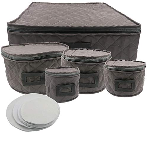 Evelots Dinnerware Storage-Protector-Travel/Transport Bag-Service For 12-Set/5 ()
