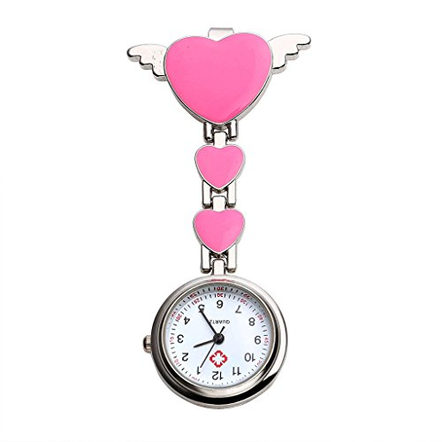 Top Plaza Brooch Hanging Watch Pink