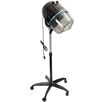 Zeny Adjustable Hooded Floor Bonnet Hair Dryer w/Stand Up Rolling Base Wheels Salon Spa Beauty Equipment