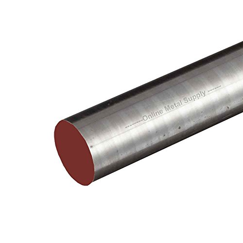 Online Metal Supply 1144 Steel Round Rod, Diameter: 0.250 (1/4 inch), Length: 48 inches (3 (Steel Rod Stock)
