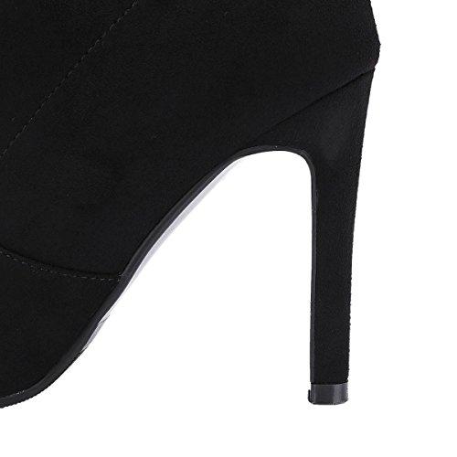YE Damen Overknee Stiefel Stiletto High Heels mit Reißverschluss und 11cm Absatz Elegant Simple Schuhe oQT0aUr
