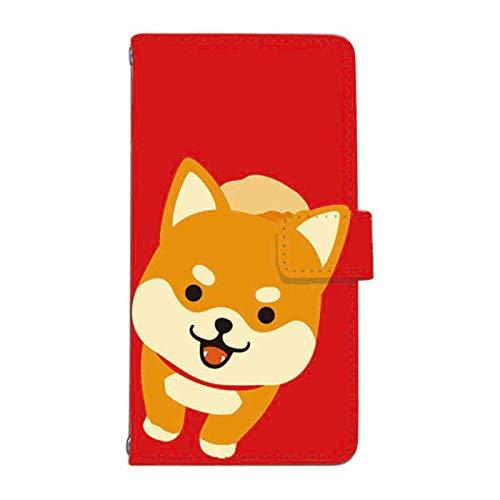 [sumacco]iPhone8/iPhone7ケース 手帳型 スマホケース カメラ穴搭載 スマホカバー TCA104_504 あだちかおる 柴犬 アップ 赤 611437