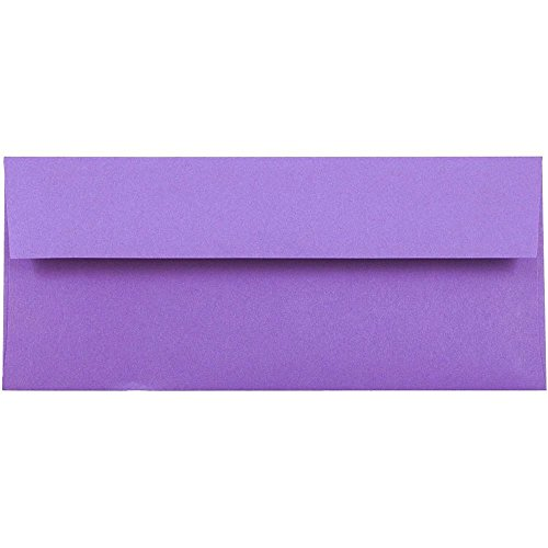 "JAM Paper #10 Business Envelope - 4 1/8"" x 9 1/2"" - Brite Hue Violet Recycled - 50/pack"