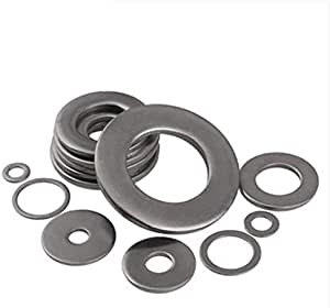 amazon com ochoos 304 stainless steel plain washers with