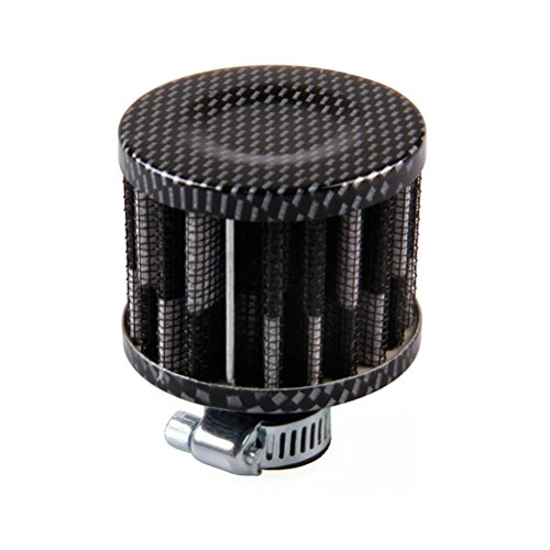 Eternalpower 12mm Inlet Cold Air Intake Filter Cone Turbo Vent Valve Cover Crankcase Breather Filter (Carbon Black)
