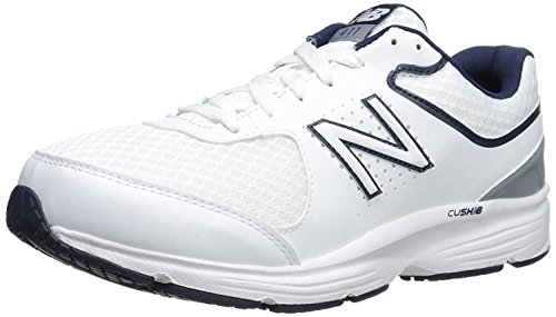 New Balance Men's MW411v2 Walking Shoe, White/Blue, 7 D...