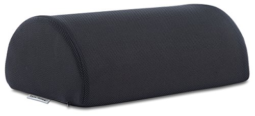 (InteVision Foot Cushion with a Non-Slip, Washable Cover - Does Not Slip EVEN on Smooth Marble Floors- Foot Rest Cushion for Under Desk - Ergonomic Foam Footrest to Support Yout Feet at Home or Office)