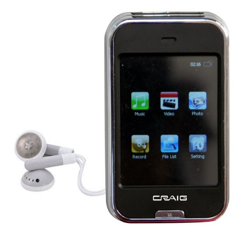 Craig Electronics CMP628E 2GB MP3 Plus Video Player with 2.4-Inch Screen