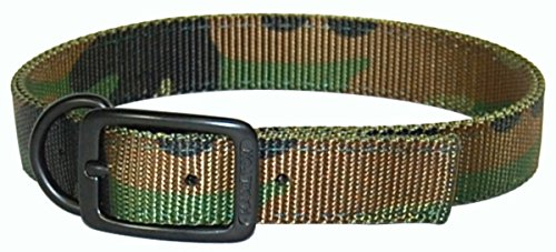 Hamilton Double Thick Dog Collar with Extended Dee Ring, 18-Inch, Camouflage