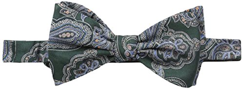 Tommy Hilfiger Paisley Tie (Tommy Hilfiger Men's New Paisley Self-Tie Bow Tie, Hunter, One Size)