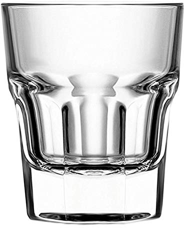 Circleware 42780 Scorchers Shot, Set of 6 Heavy Base Glassware Drinking Glass Cups for Whiskey, Vodka, Brandy, Bourbon and Best Selling Liquor Beverage Bar Dining Decor Gifts, 1.5 oz, Clear