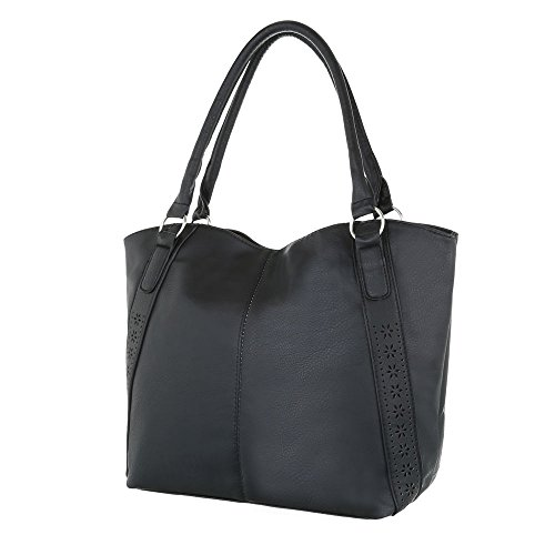 Taschen Tragetasche Schultertasche Modell Nr.1 Schwarz 3GWnwy14