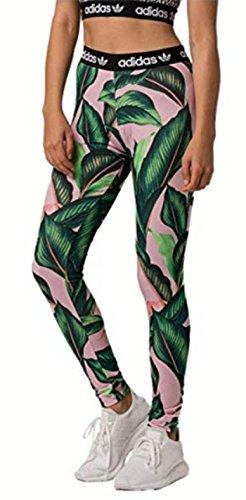 adidas Originals adidas Originals Women's Farm Leggings, GreenPink, S from Amazon | Real Simple