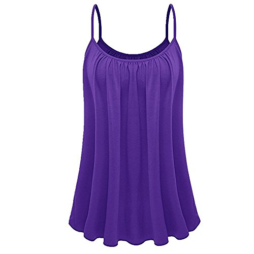 UOKNICE Tank Tops for Teen Girls, Summer Womens Loose Sleeveless Plus Size Solid Color Cami Basic Camisole Tank Top Vest]()