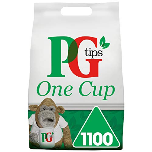 Review Of PG Tips One Cup Pyramid Tea Bags (Pack of 1, Total 1100 Tea Bags)