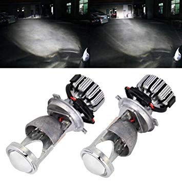 Uniqus IPHCAR G9 H4 25W 3000LM 5500K 2 LEDs Car Headlight Lamps with Decoder, DC 9-32V for Left Driving (White Light)