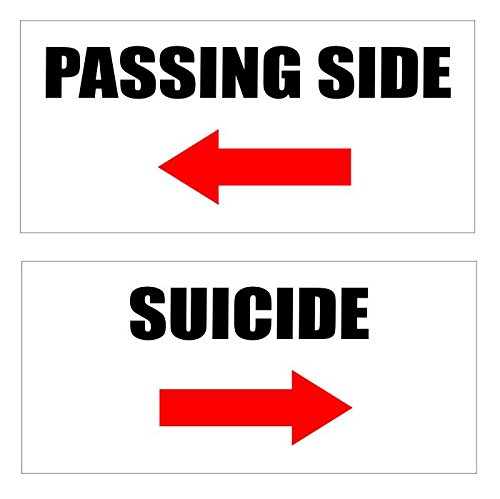Passing Side Suicide Big Rig Truck Vinyl Sticker Decal