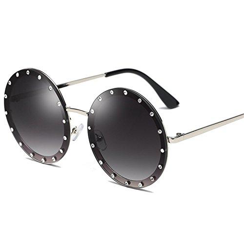 sol A redondas de damas street NIFG Europa sol Gafas gafas diamantes de tendencia sol shooting América y aAPZwx