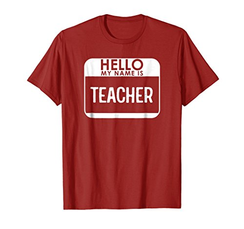 Teacher Costume T-Shirt Funny Easy Halloween Outfit