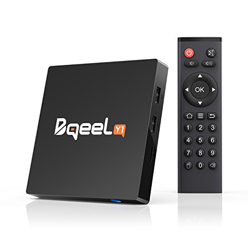 Bqeel Y1 Android 7.1 TV Box Amlogic Quad-core Android Box 2.4G WiFi H.265 Smart TV Box Ultra 4K HD HDMI 2.0 Output (1G RAM/ 8G ROM) (1+8G)