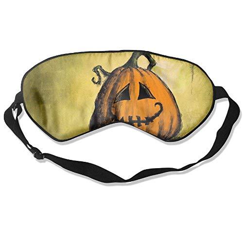 Cartoon Halloween Pumpkin Pattern,Silk,Sleeping Blindfold Fashionable Adjustable Strap Eyeshade Travelling Shift Work Night Noon Nap Yoga Fashion Hip Hop Sleep Mask -
