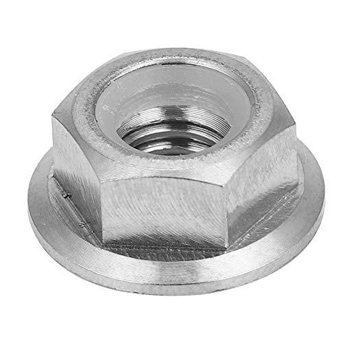 (1pc M5 M6 M8 M10 M14 Sprocket Flange Lock Nut Titanium Alloy Flange Lock Nut for Bicycle Motorcycle(M6X1.0))