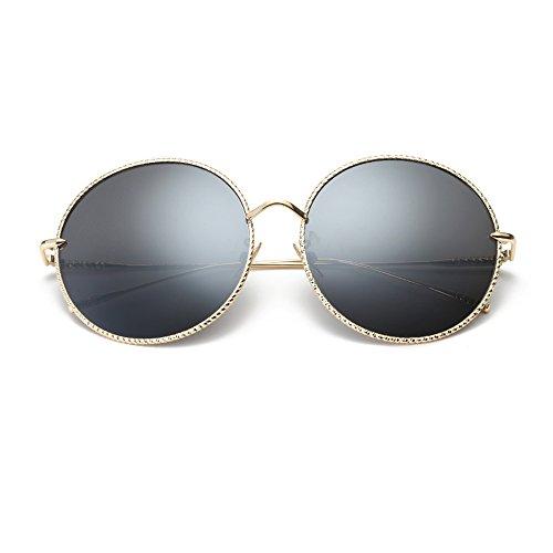 verano JIU Gafas Gafas ocio Color viaje D conducción de sol sus redondas de mujer Proteja gafas sol ojos polarizadas B playa w81Cqdrw