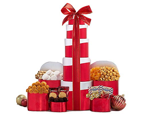 Wine Country Gift Baskets Ghirardelli, Godiva Chocolate and More Gift Tower. Christmas Chocolate Gift Basket. Holiday Gift Tower. Perfect For Family Gifts, Corporate Gifts, Token of Appreciation Gift.