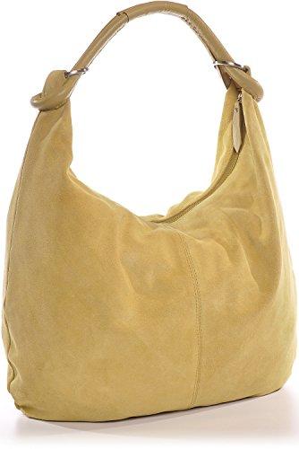 marrón Gelb Bolso CNTMP mujer para Senf cuero al de hombro ax008wfqd