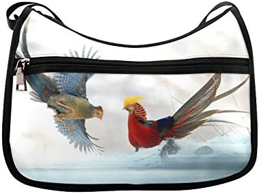 Colourful Caragana Messenger Bag Crossbody Bag Large Durable Shoulder School Or Business Bag Oxford Fabric For Mens Womens