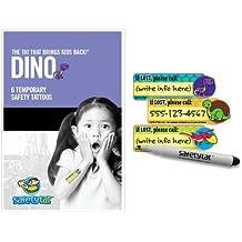 Quick Stick Write-on! Child ID Tattoos (Dino 6pk.)