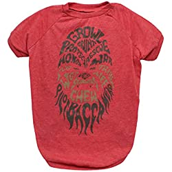 Star Wars Red Chewbacca Growl Dog Tee | Star Wars Dog Shirt for Large Dogs | Large