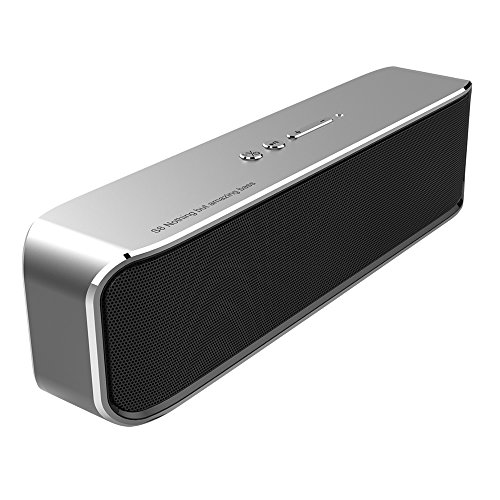 CMP S8 Portable HiFi Bluetooth Speakers 20W Aluminum alloy Shell, Bluetooth 4.2 Wireless Speakers with Subwoofer - Silver