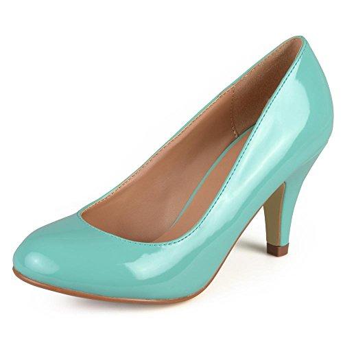 [Journee Collection Mavis-5 Women US 9 Green Heels] (Journee Collection)