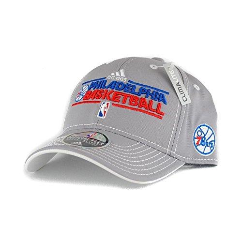 Philadelphia 76ers Adidas NBA Official Practice Grey Climalite Flex Fit Hat (Grownup S/M) – DiZiSports Store