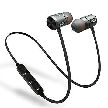 ZXzz Cerámica Auricular Bluetooth bajo en la Oreja Auriculares inalámbricos Estéreo Deporte C10 Metal Imán Auriculares