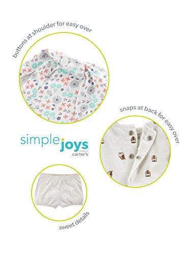 6024e2ad53e20 Simple Joys by Carter's Baby and Toddler Girls' 2-Pack Short-Sleeve and