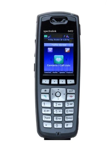 SpectraLink 8453 Black Handset without Lync Support 2200-37292-001