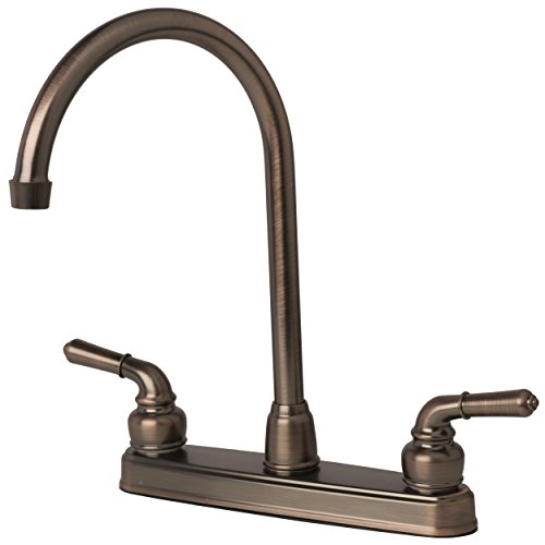 Builders Shoppe 1201BZ RV Mobile Home Non-Metallic High Arc Swivel Kitchen Sink Faucet Brushed Bronze Finish