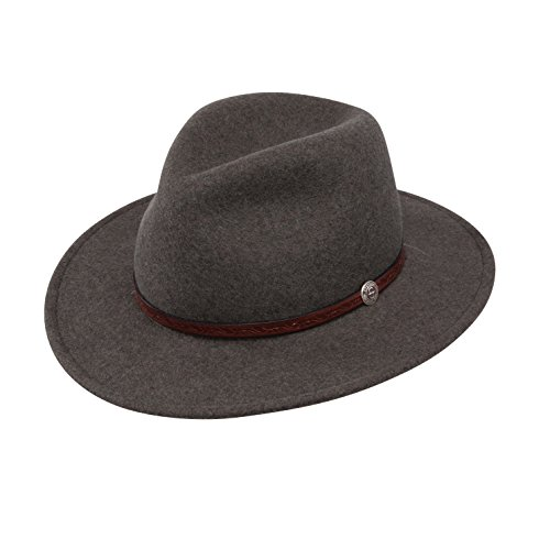 Stetson Mens Cromwell Wool Felt Crushable Water Repellent Olive Mix Crusher Collection Cowboy Hat