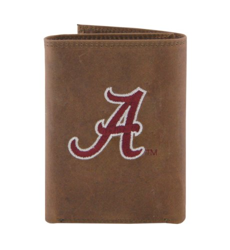 NCAA Alabama Crimson Tide Zep-Pro Crazyhorse Leather Trif...