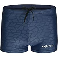MAXPRESS Men's Swimming Trunks Boxers Briefs ShortsLmitation Sharkskin Quick Dry Waterproof Breathable