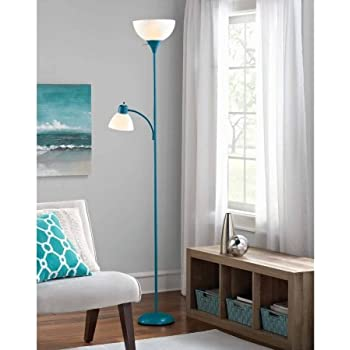 Mainstays gold floor lamp with reading light 72 amazon mainstays corsair floor lamp with reading light 72 aloadofball Image collections