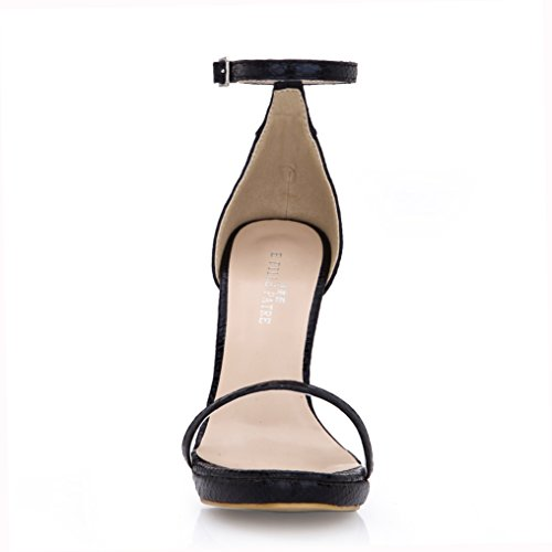 Sandals female new Black Gold Serpent Skin a field with mature temperament and fine high-heel shoes Gold OpIfRyZ