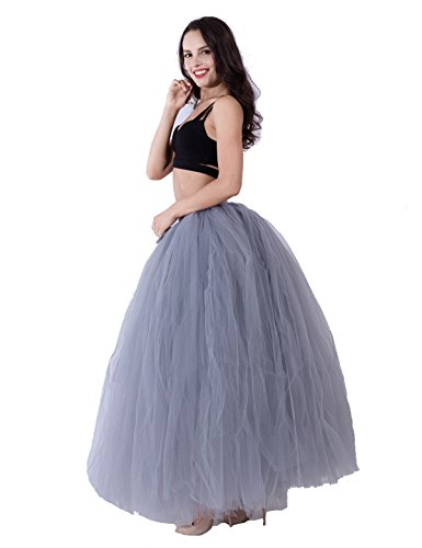 Party Train Adult Puffy Long Tutu Tulle Skirt 100cm Floor Length Women Wedding Skirts by Party Train (Image #2)