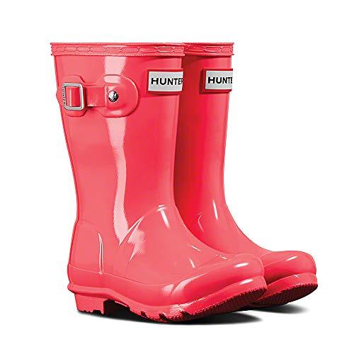 Price comparison product image Hunter Kids Unisex Original Kids' Gloss Rain Boot (Little Kid/Big Kid) Hyper Pink 13 M US Little Kid M