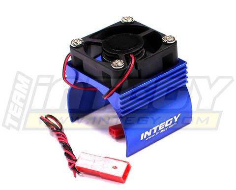 Integy Hobby RC Model C23140BLUE Super Brushless Motor Heatsink+Cooling Fan 540 Size BL