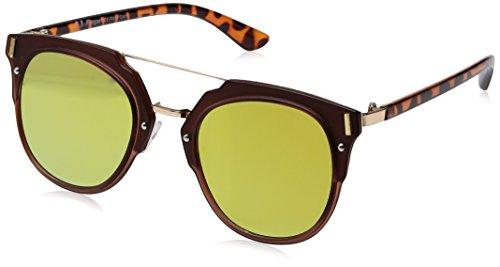 A.J. Morgan Flat Rectangular Sunglasses, Matte Burgundy, 60 mm