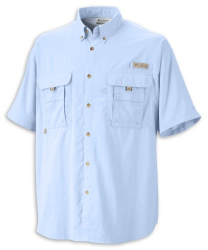 Columbia Men's PFG Bahama II Short Sleeve Shirt, Sail, 3XT Big And Tall Men Shirts